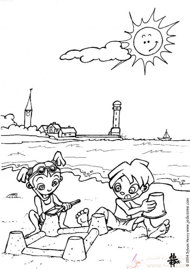 beach coloring page source wfy صور للتلوين للأطفال ورعه 2015 2014
