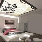 ديكورات جبس غرف نوم وافكار رائعة في تصميم الاسقف والجدران