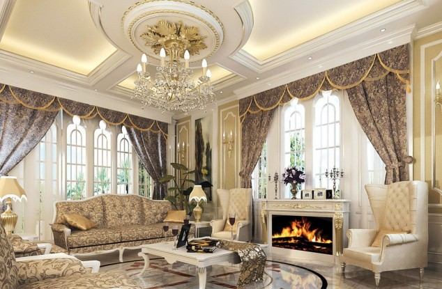divine-luxury-pop-false-ceiling-decoration-for-luxury-living-room-ideas-with-classic-furniture-and-gas-fireplace-also-soft-lighting-634x415