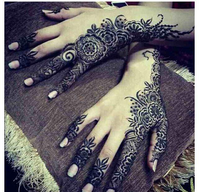 fe62274e39d313dfd66ed1da993a9b63 نقش حناء خليجي بحريني انيق جدا للعروس وللعيد نقوش حناء بسيطة 2014