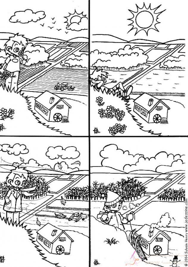four seasons coloring page source ap6 صور للتلوين للأطفال ورعه 2015 2014