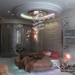 غرف نوم ملكي فاخره 2015 , ديكورات جبسية روعه غرف نوم  Decorations bedrooms 2014