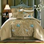 مفارش سرير مطرزه للعرسان 2015 , اجمل مفارش سرير بجميع الالوان والاشكال 2014