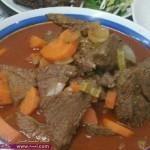 أكلات رمضانية خطوات عمل يخنة اللحم والخضار2014