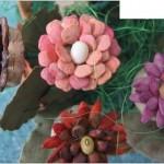 فكرة حلوة لصنع الورود من خامات طبيعية زى بذور النباتات